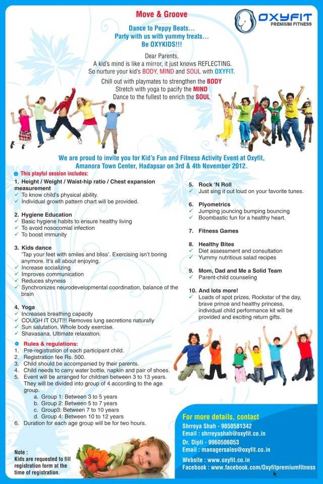Fun 'n' Fitness for kids on 3 and 4 November 2012 at ...
