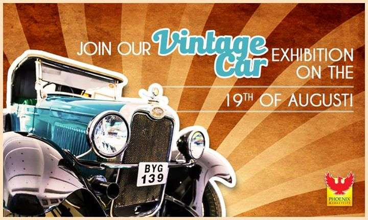 Vintage Car Exhibition At Phoenix Marketcity Pune From To - Classic car events