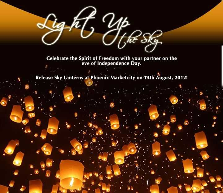 Lights Shop In Pune: Release Sky Lanterns At Phoenix