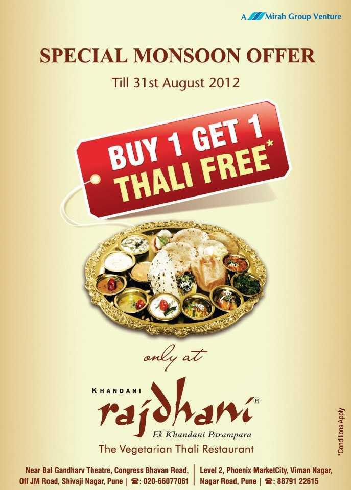 Rajdhani Restaurant Discount Coupons Pune Buffalo