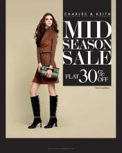 Charles & Keith Mid Season Sale - Flat 30% off on Footwear and Accessories
