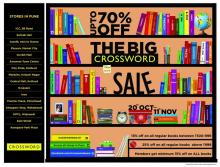 The Big Crossword Sale - Upto 70% off from 20 October to 11 November 2012 in Pune