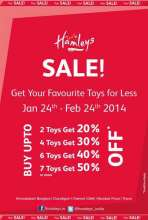 Hamleys Sale, Get your toys for less, 24 January to 24 February 2014