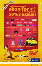 Gudi Padwa Deals in Pune - This Gudi Padwa, Shop at Inorbit Pune for Rs.1 and above & stand a chance to win Tata Nano, Yamaha Bike and much more!!! Also get upto 50% discounts. Offer valid from 23rd-25th March'12.