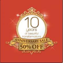 Kaya Skin Clinic 10 Years Anniversary Sale - Up To 50% off