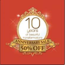 Kaya Skin Clinic 10 Years Anniversary Sale - Up To 50% off
