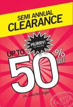 La Senza Semi Annual Clearance Sale - Upto 50% off ticket price on selected styles. Starts on 21 June 2012