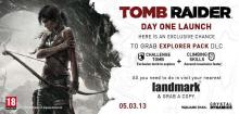 Tomb Raider, Day One Launch offer, Landmark, Grab exclusive Explorer Pack DLC, 5 March 2013