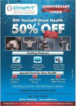 Oxyfit Premium Fitness Club, Amanora Town Centre, Pune, Anniversary Offer, 50% off from 1 July to 31 August 2013
