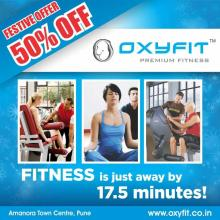 This festive season Gift yourself Good Health at Half the Price for more details log on to http://www.oxyfit.co.in/events.html