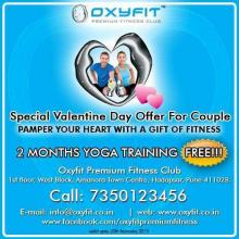 Special Valentines Day offer for couples at Oxyfit Premium Fitness Club Amanora Town Centre Hadapsar Pune. Call 7350123456 for more details or visit http://www.oxyfit.co.in/. Valid until 20 February 2013.