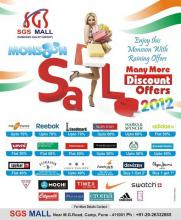 Monsoon sale 2012 - More than 60% discount on major brands at SGS Mall, Pune