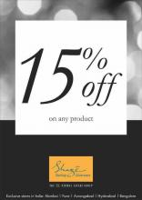 Avail 15% off on any product  in the breathtaking Shaze collection at Phoenix Marketcity, Viman Nagar, Pune