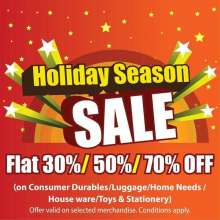 Star Bazaar Holiday Season Sale, Sale on Consumer Durables, Sale on Luggage, Sale on Home Needs, Sale on House ware, Sale on Toys, Sale on Stationery