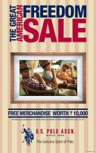 The Great American Freedom Sale, U.S. POLO ASSN, 4 & 5 July 2013, Get additional Merchandise worth Rs.10,000. with every purchase of Rs.10,000