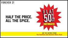 Surprise, PUNE! FLAT 50% OFF at Forever 21  The Pavillion Pune and Amanora Mall