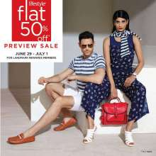 Lifestyle Flat 50% off Preview Sale from 29 June to 1 July 2016