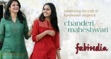 Fabindia, CHANDERI & MAHESHWARI, a festive collection of garments