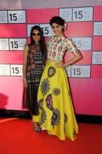 Spunky Taapsee Pannu rocked a vibrant Neha Agarwal Outfit at Lakme Fashion Week 'Curtain Raiser' 2015